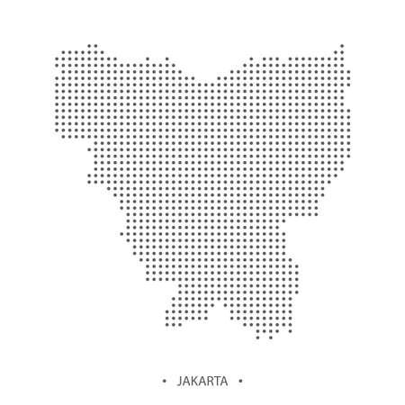 Dotted Jakarta map. Vector eps10 Illustration