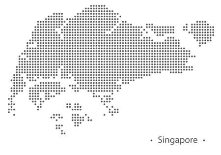 Singapore abstract dotted map. Vector