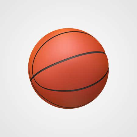Basket-ball de vecteur réaliste. Balle lisse sans texture.