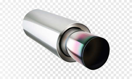 Realistic exhaust pipe. Vector eps10