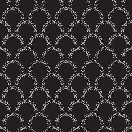 Vector seamless pattern with floral rings. Modern geometric texture. Repeating abstract background. Vector eps10