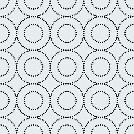 Seamless pattern with dotted circles. Abstract repeating texture.