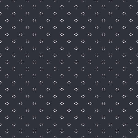 Dark geometric black and white ovals dotted circle seamless patterns Ilustrace