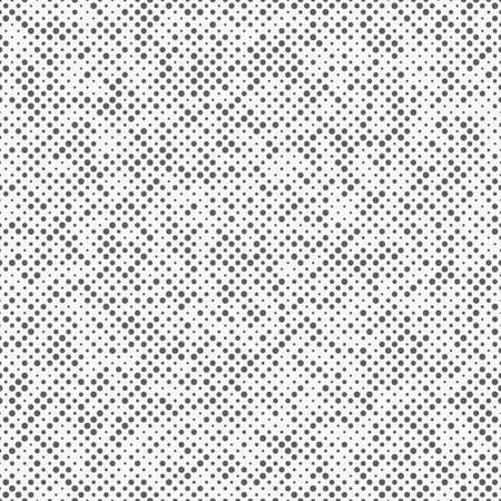 Halftone effect seamless pattern with different size dot polka dotted. Abstract spotted vector background. Modern peas.