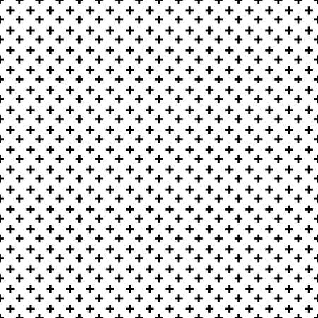 Seamless simple pattern of dotted cross, plus sign. Can be used as swatch in Illustrator.