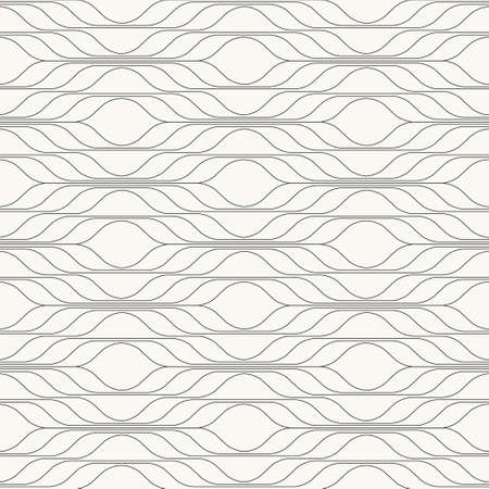 Abstract wavy ornamental creative seamless pattern, vector background Ilustrace
