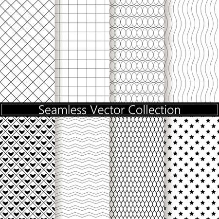 Collection of seamless ornametal and dotted patterns.