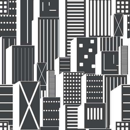 Seamless abstract buildings. Vector stylized texture Ilustrace