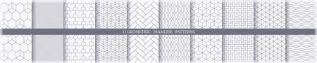 Collection of 11 seamless ornametal patterns.