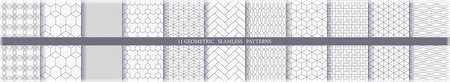 Collection of 11 seamless ornametal patterns