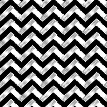Seamless abstract backgrounds zigzag doodle.