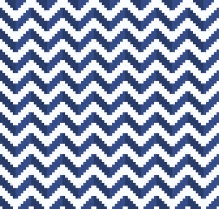 Chevron pixel zigzag pattern. Vector seamless background 向量圖像