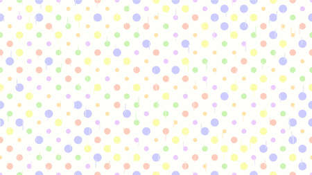 White seamless texture. Vector background. Childrens cute cheerful pattern of circles and lines made in light pastel colors.