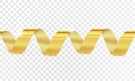 Vector illustration of horizontal seamless gold ribbon. clipping mask. Wonderfully suitable for the design of Christmas greeting cards, the addition of Black Friday banners, decoration and addition