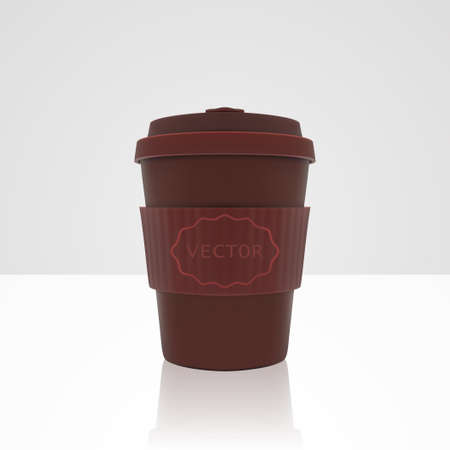 Realistic vector red coffee cup 向量圖像