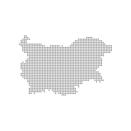 Dotted polka dots pixels map of Bulgaria, vector illustration. 向量圖像