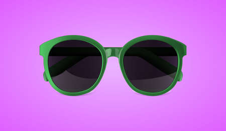 Realistic vector sunglasses isolated on purple background