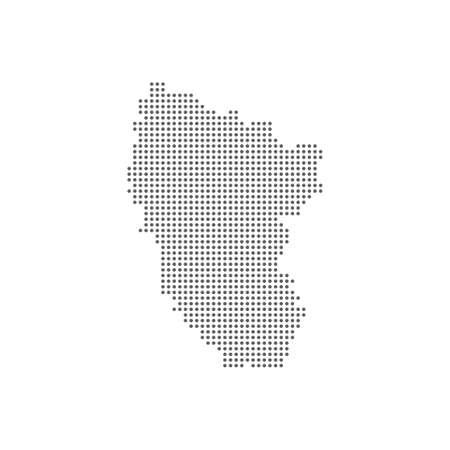Dotted polka dot map of the Lugansk National Republic LNR