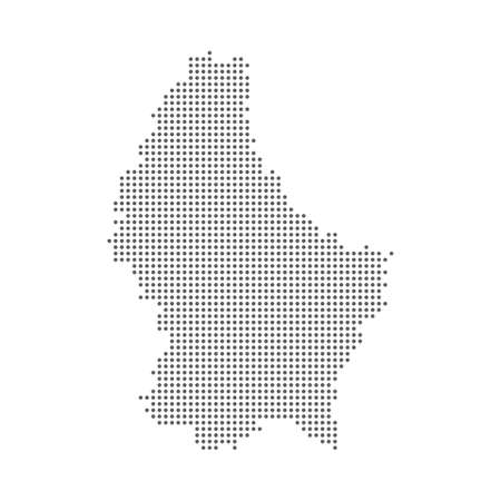 Dotted polka dot map of the Luxembourg