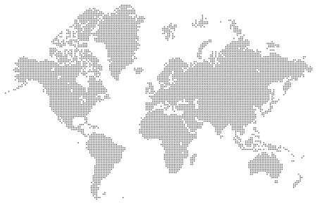 Dotted map of the World.