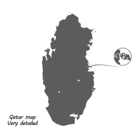 High detailed vector map of Qatar. Very accuracy