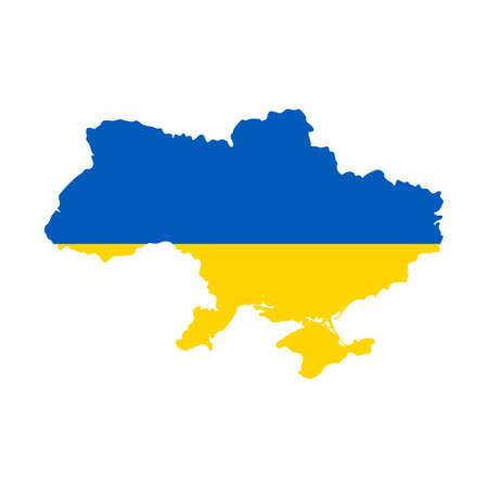 Ukraine map with flag inside. Vector eps10. 向量圖像