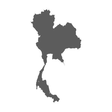 High level detailed map Thailand. Very accurate map layout satellite. 向量圖像