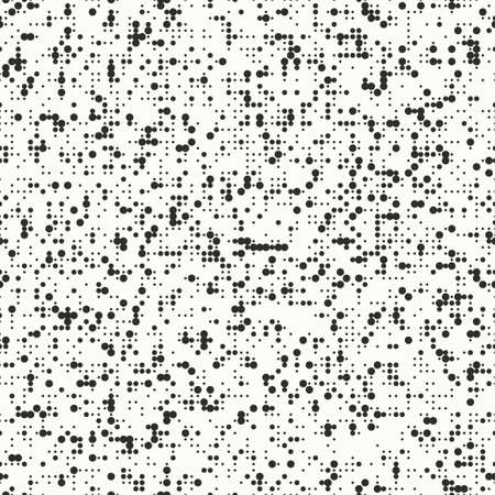 Abstract black and white seamless pattern. Vector dotted polka dot textured background. 向量圖像