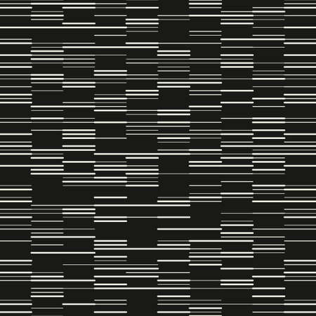 Seamless monochromatic modern pattern. Vector stylish background. Minimalistic cool texture of random dotted rounded lines.