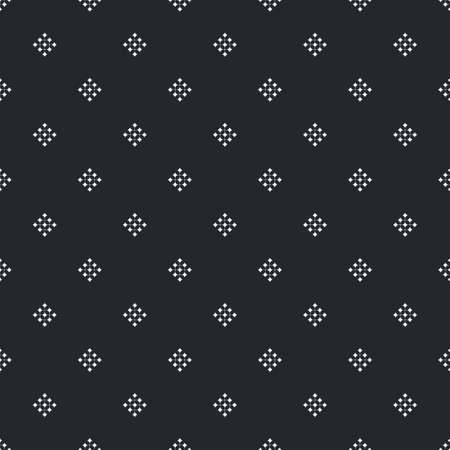 Universal vector black and white seamless pattern with dotted small shapes. Monochrome geometric ornaments. Vector texture