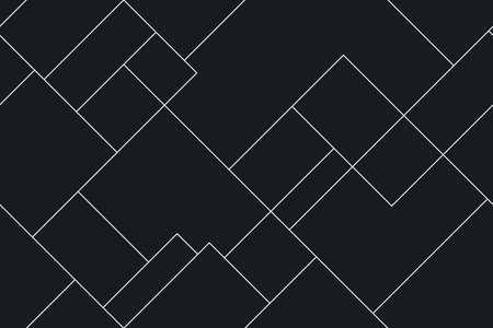 Seamless monochromatic modern pattern. Vector stylish minimalistic background. Simple cool texture of diagonal lines, plan, diagram, abstract background.
