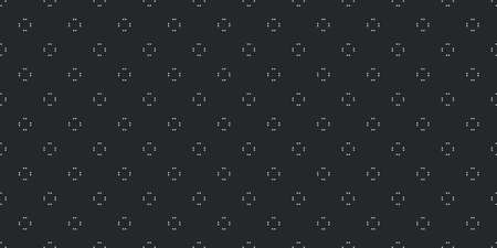 Universal vector black and white seamless pattern with dotted small shapes arrows or flowers. Monochrome geometric ornaments. Vector texture