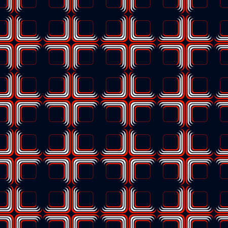 Abstract background with red and white rounded squares Ilustração