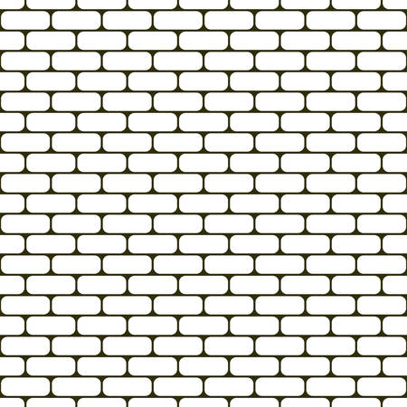 White rounded brick wall seamless vector texture 矢量图像