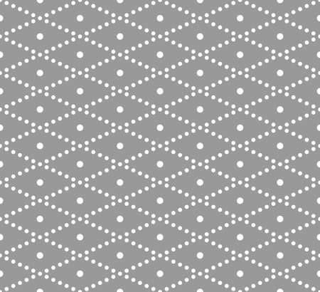 Vector seamless pattern. Modern stylish texture. Repeating geometric tiles with dotted polka dot zigzag Ilustrace