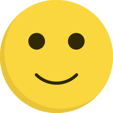 Emoticon icon flat, emoji isolated on white background Ilustrace