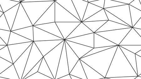 Geometric simple black and white minimalistic pattern, triangles or stained-glass window. Ilustrace