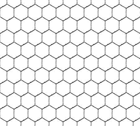 Seamless pattern wicker mesh of hexagons. Abstract mosaic background. Retro design