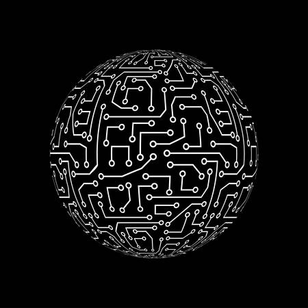 Abstract globe. Technology ball.