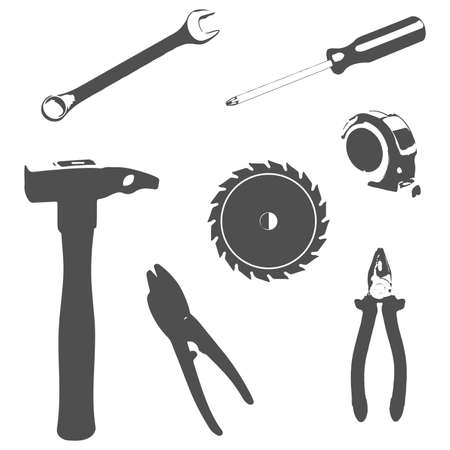 Vector icons of tool sign