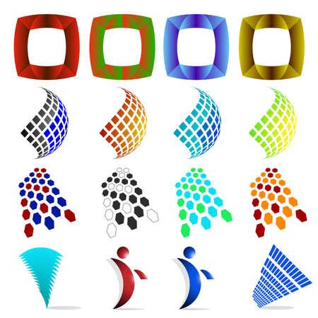 Abstract web Icons, vector logos