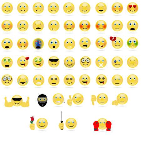 emotionale Gesichtssymbole