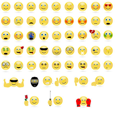 icônes de visage émotionnel