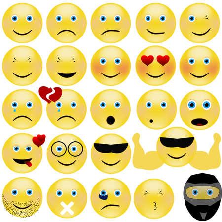 emotional face icons.
