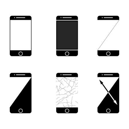 Collection of icons mobile phones. stock.on a white background