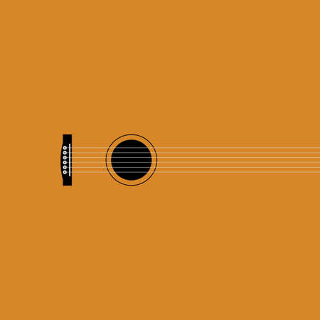 Vector illustration. Guitar in the creative execution