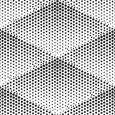 Seamless vector halftone texture. Abstract modern pattern. Ilustrace