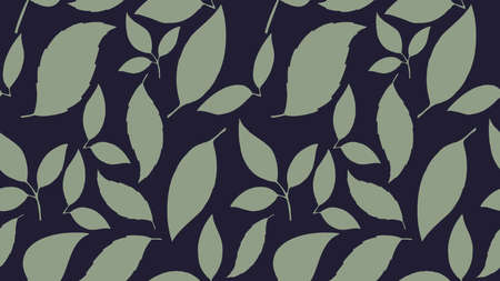 Seamless leaf pattern. Floral stylish background. Vector texture. Aspect ratio, full hd, 4K, for a widescreen display.