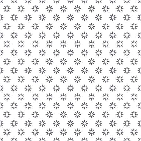 Minimalist geometric seamless pattern with geometric flowers