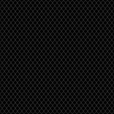 Metal mesh. Structure netting fence. dark pattern. vector Seamless background Ilustrace